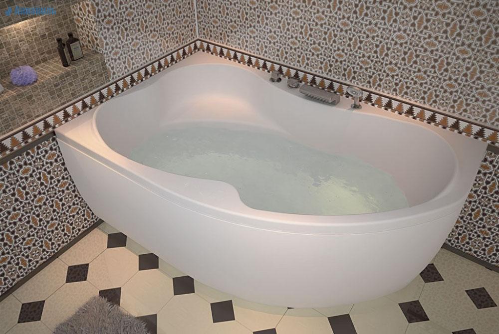 Ванна AQUANET CAPRI 160х100 (левая) купить в Москве 62add8737a270